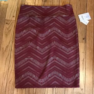 BNWT Lularoe Chevron Cassie Pencil Skirt